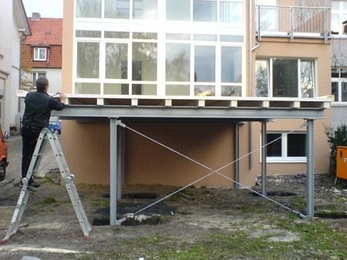 carport mit stahlkonstruktion zhg holz dach. Black Bedroom Furniture Sets. Home Design Ideas