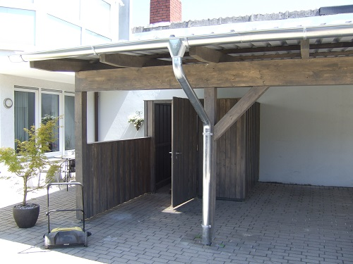 carport mit trapezblechdach zhg holz dach. Black Bedroom Furniture Sets. Home Design Ideas