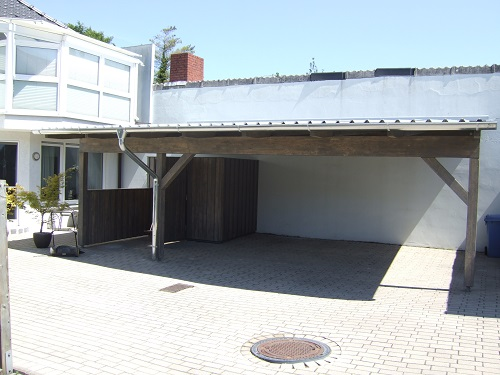 carport mit trapezblechdach zhg holz dach. Black Bedroom Furniture Sets. Home Design Ideas