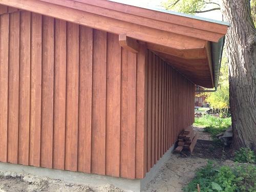 Remise Bodendeckelschalung Zhg Holz Dach